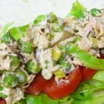 Острый мексиканский салат с тунцом