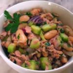 салат с тунцом и фасолью
