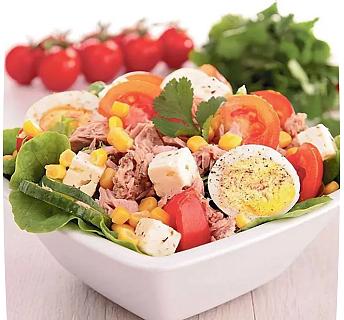 салат с тунцом консервированным без майонеза