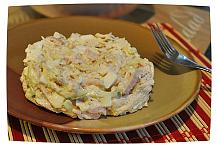 рецепт салатов с ветчиной и курицей