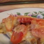 запеченная куриная грудка с помидорами и сыром
