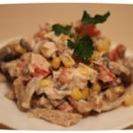 простой салат с курицей и грибами