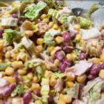 салат из куриной грудки с фасолью