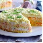 салат мимоза с горбушей пошагово
