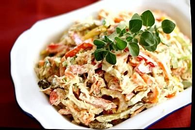 салат с куриной грудкой и перцем болгарским