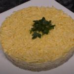 salade de foie de poulet en couches