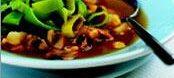 Суп с грибами и зеленью