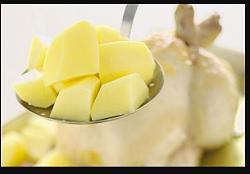 рецепта целой курицы в духовке с картошкой