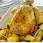 сколько запекать целую курицу в духовке